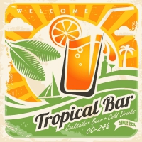 Servietten 24x24 cm - Tropical bar