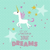 Servietten 33x33 cm - Follow your dreams