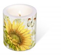 Dekorkerze - Candle Vintage sunflower