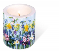 decorative candle - Spring flowers