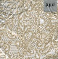 Cocktail Servietten Lace Royal pearl/gold