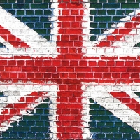 Cocktail Servietten Union Jack Mosaic