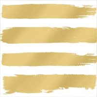 Servietten 25x25 cm - Fashion Stripes gold