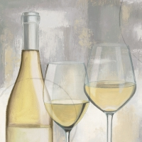 Servietten 25x25 cm - A Taste of Wine white