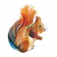 Servietten 25x25 cm - Leros Squirrel