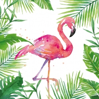 Servietten 25x25 cm - Tropical Flamingo