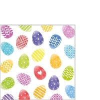 Servietten 25x25 cm - Colorful Easter