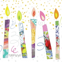 Servietten 25x25 cm - Birthday Candles