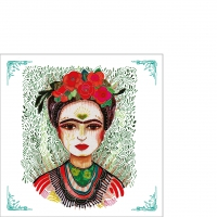 Servietten 25x25 cm - Frida: Memory the Heart