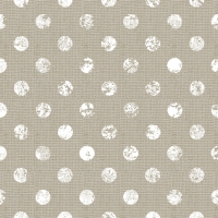 Lunch Servietten Fashion Dots taupe white