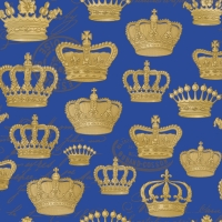 Lunch Servietten Majesty Embossed blue gold