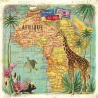 Servietten 33x33 cm - Travel to Africa