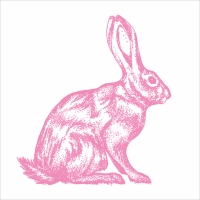 Lunch Servietten Mod Rabbit pink white