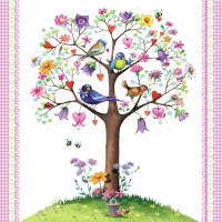 Lunch Servietten Love Tree white