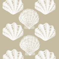 Lunch Servietten Riviera Shells taupe