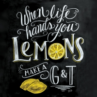 Lunch Servietten Blackboard Lemons