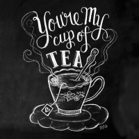 Servietten 33x33 cm - Blackboard Tea