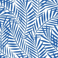 Servietten 33x33 cm - Palm Leaves indigo