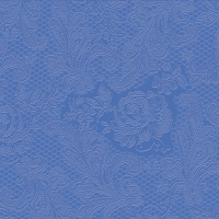 Lunch Servietten Lace embossed indigo