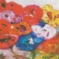 Lunch Servietten Flowers on canvas