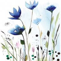 Lunch Servietten Aquarell Cornflowers