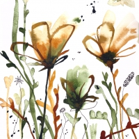 Lunch Servietten Aquarell Sunrise Flowers