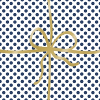 Lunch Servietten Cadeau Deluxe Dots blue