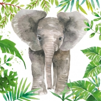 Servietten 33x33 cm - Tropical Elephant