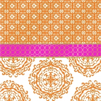 Servietten 33x33 cm - Madaket orange pink