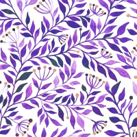 Servietten 33x33 cm - Botanicals purple