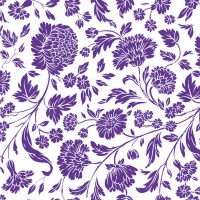 Servietten 33x33 cm - George V.  embossed violet white