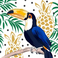 Servietten 33x33 cm - Tropical Tucan