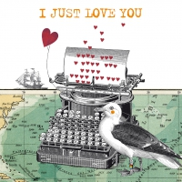 Servietten 33x33 cm - Just Love You