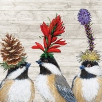 Servietten 33x33 cm - The Chickadee Sisters