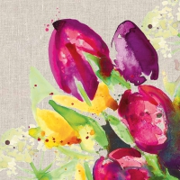 Servietten 33x33 cm - Pretty Tulips