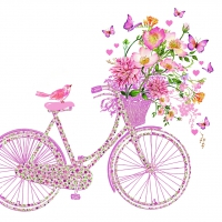 Servietten 33x33 cm - Happy Bike
