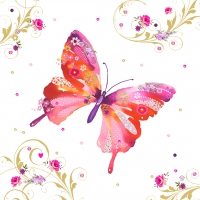 Servietten 33x33 cm - Pretty Butterfly