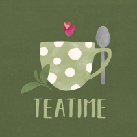 Servietten 33x33 cm - Tea Time