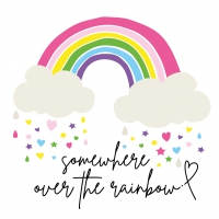 Servietten 33x33 cm - Rainbow-stayhealthy