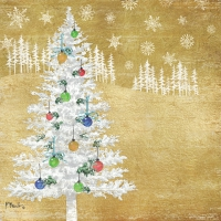Servietten 25x25 cm - Woodland Tree gold