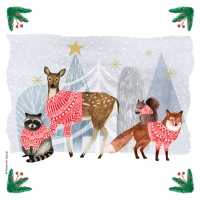 Servietten 25x25 cm - Winter Gathering