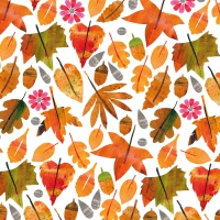 Napkins 25x25 cm - Autumn Leaves