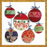 Servietten 25x25 cm - Christmas Ornaments