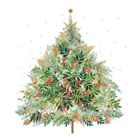 Servietten 25x25 cm - Christmas Hill Tree