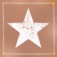 Lunch Servietten Star Fashion solid copper