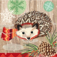 Lunch Servietten Hedgehog with Scarf