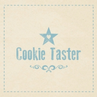 Lunch Servietten Cookie Taster beige