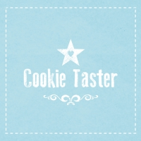 Lunch Servietten Cookie Taster blue