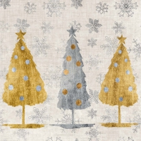 Servietten 33x33 cm - Holiday Trees