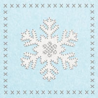 Lunch Servietten Felt Snowflake ice